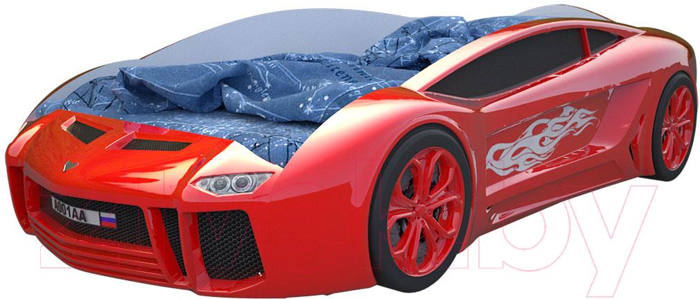 Купить Детская кровать-машинка КарлСон, Ламба Next (красный), Россия