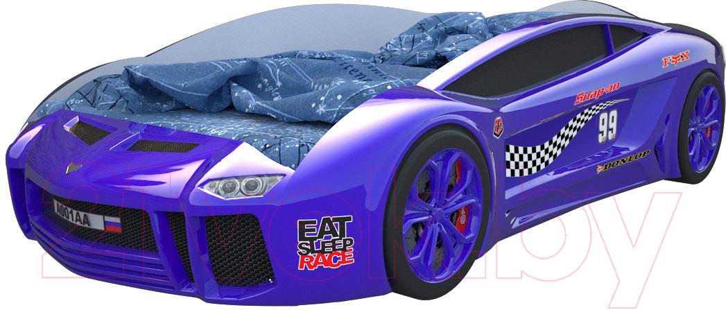 Купить Детская кровать-машинка КарлСон, Ламба Next 2 (синий), Россия