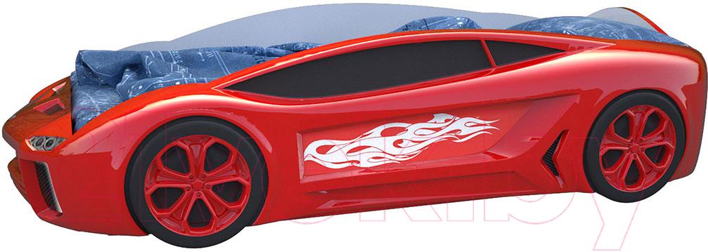 Купить Детская кровать-машинка КарлСон, Ламба Next с подъемным механизмом (красный), Россия