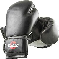 Боксерские перчатки Novus LTB-16301 10oz (S/M, черный) -