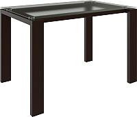 Обеденный стол Goldoptima Георг (орех коняк/стекло матовое) -