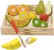 Набор игрушечной посуды Melissa & Doug Набор порезанных фруктов / 14021 -