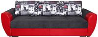 Диван Lama мебель Пингвин-3/6 (Bahama Grafit/Marvel Red/Amsterdam Grafit) -