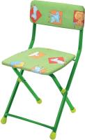Стул детский Ника СТУ1 Зверята (зеленый) -