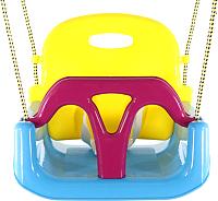 Качели подвесные Kampfer Пластиковые 3 в 1 (голубой/желтый/малиновый) -