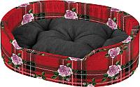 Лежанка для животных Ferplast Dandy F 55 / 82942098 (розы, красный) -