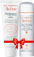 Набор косметики для лица Avene Гидранс Лежер эмульсия увлажняющая 40мл + термальная вода 50мл -