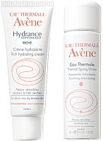Набор косметики для лица Avene Гидранс Риш крем 40мл + термальная вода 50мл -