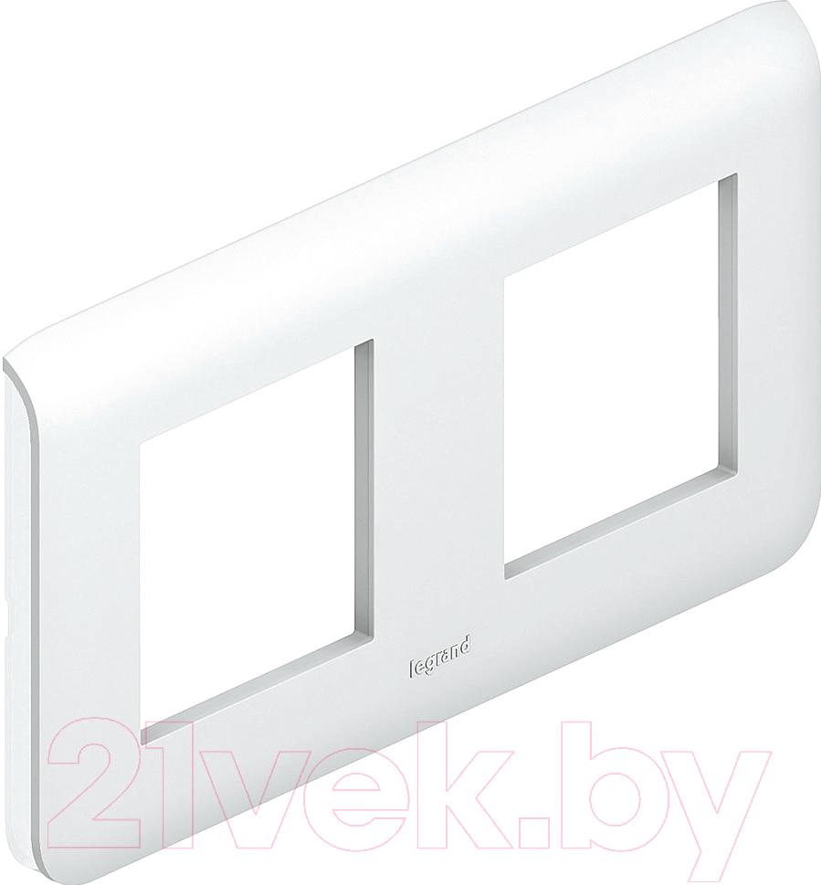 Купить Рамка для выключателя Legrand, Mosaic 78804 (белый), Франция, пластик, Mosaic (Legrand)