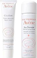 Набор косметики для лица Avene Сикальфат крем восстанавливающий 40мл + термальная вода 50мл -