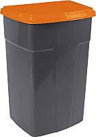Контейнер для мусора Алеана 122062 (темно-серый/оранжевый) -