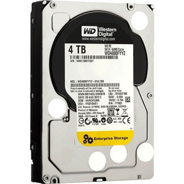 Купить Жесткий диск Western Digital, RE 4TB (WD4000FYYZ), Китай