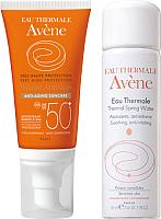Набор косметики для лица Avene Крем д/лица солнцезащ. антивозр. SPF50+ 50мл+термальн. вода 50мл -