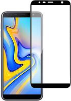 Защитное стекло для телефона Case Full Glue для Galaxy J6 Plus (черный глянец) -
