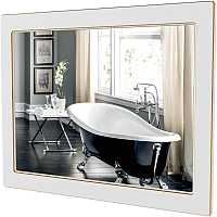 Зеркало Аква Родос Беатриче 80 / АР0001940 (белый/патина золото) -