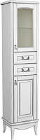 Шкаф-пенал для ванной Аква Родос Микелла R / АР0002132 (белый/патина/хром) -