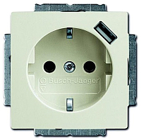 Розетка ABB Basic 55 2011-0-6196 (шале-белый) -
