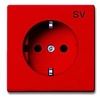Розетка ABB Basic 55 2011-0-6151 (красный) -