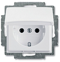 Розетка ABB Basic 55 2018-0-0350 (белый) -