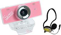 Веб-камера CBR Simple S3 с наушниками-гарнитурой CHP-311M (желтый) -