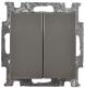 Выключатель ABB Basic 55 1012-0-2177 (шато-черный) -