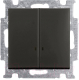 Выключатель ABB Basic 55 1012-0-2178 (шато-черный) -