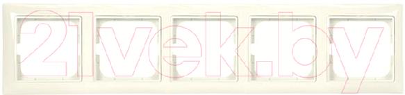Купить Рамка для выключателя ABB, Basic 55 1725-0-1488 (слоновая кость), Китай, пластик, Basic 55 (ABB)