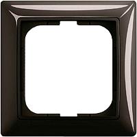 Рамка для выключателя ABB Basic 55 1725-0-1506 (шато-черный) -