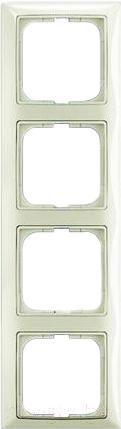 Купить Рамка для выключателя ABB, Basic 55 1725-0-1514 (шале-белый), Китай, пластик, Basic 55 (ABB)