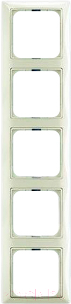 Купить Рамка для выключателя ABB, Basic 55 1725-0-1515 (шале-белый), Китай, пластик, Basic 55 (ABB)