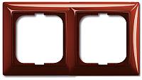 Рамка для выключателя ABB Basic 55 1725-0-1517 (красный) -