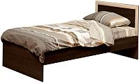 Односпальная кровать Олмеко 21.55 (венге/дуб линдберг) -