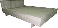 Двуспальная кровать Барро КР-017.11.02-15 160x186 (дуб сонома) -