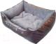 Лежанка для животных Happy Friends Пухлик №2 (коричневый/серый) -