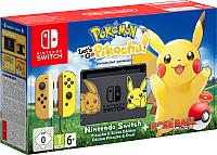 Игровая приставка Nintendo Switch + Pokemon: Let's Go, Pikachu! -