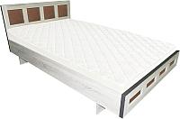 Двуспальная кровать Барро М1 КР-017.11.02-15 160x186 (дуб сонома) -
