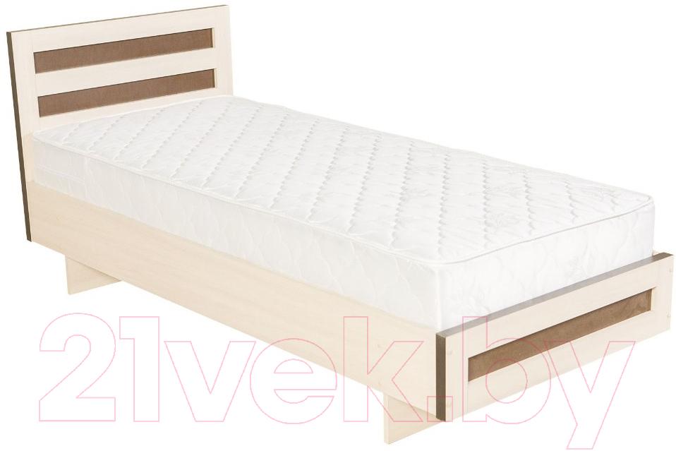 Купить Односпальная кровать Барро, М2 КР-017.11.02-12 90x200 (дуб девон), Беларусь
