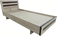 Односпальная кровать Барро М2 КР-017.11.02-06 90x190 (дуб сонома) -