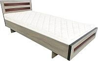 Полуторная кровать Барро М2 КР-017.11.02-14 120x186 (дуб сонома) -