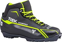 Ботинки для беговых лыж TREK Sportiks 1 S (черный/лайм, р-р 37) -