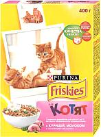 Корм для кошек Friskies С курицей, молоком и овощами для котят (400г) -