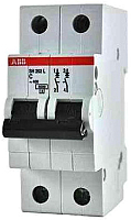 Выключатель автоматический ABB S 202 2P С 2А 6кА 2M / 2CDS252001R0024 -