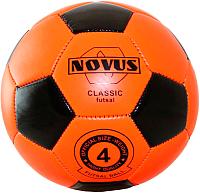 Мяч для футзала Novus Classic Futsal PVC Foam (размер 4, оранжевый/черный) -