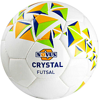 Мяч для футзала Novus Crystal Futsal PVC (размер 4, белый/синий/оранжевый) -