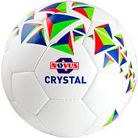 Футбольный мяч Novus Crystal PVC (размер 4, белый/синий/красный) -
