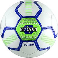 Футбольный мяч Novus Turbo PVC (размер 5, белый/синий/салатовый) -