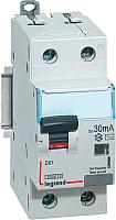Дифференциальный автомат Legrand DX3 1P+N C 10A 30мА 6kA 2M / 411000 -