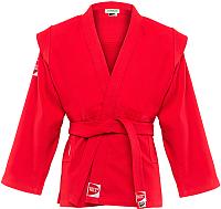 Куртка для самбо Green Hill Junior SCJ-2201 (р-р 2/150, красный) -