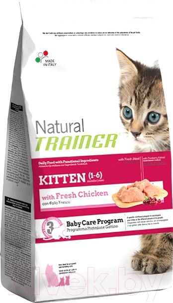 Корм для кошек Trainer, Natural Kitten Fresh Chicken (7.5кг), Италия  - купить со скидкой