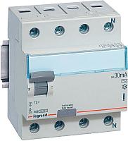 Устройство защитного отключения Legrand TX3 4P 63A 30мА 10kA 4M / 403010 -